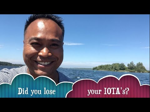 Did you lose your IOTA's?