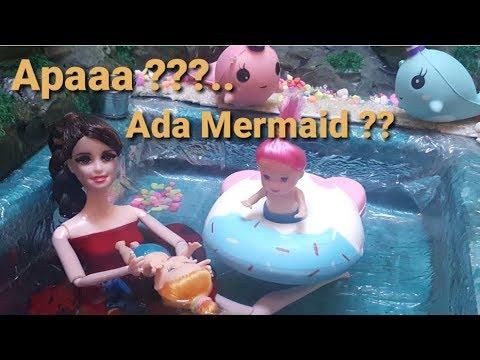 Pergi berenang || Ada Ikan duyung( Mermaid) ?|| Cerita Boneka Barbie Bahasa Indonesia || Terbaru