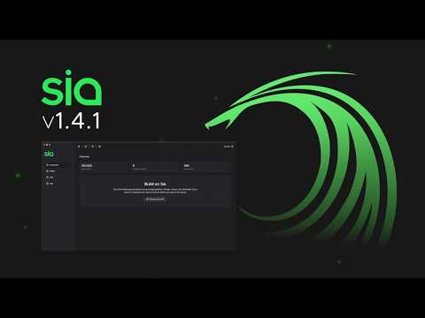 Sia v1.4.1 – Powerful new decentralized features