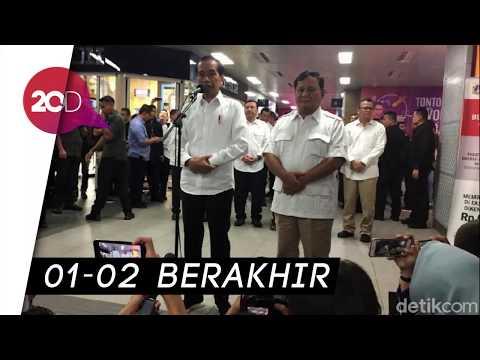 Jokowi Bertemu Prabowo: Tidak Ada Lagi Cebong-Kampret