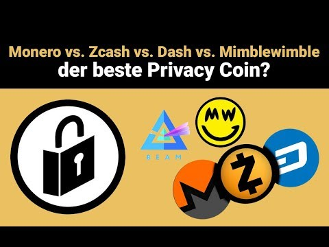 Monero vs. Zcash vs. Dash vs. Mimblewimble – der beste Privacy Coin?