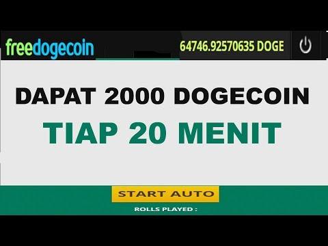 DAPAT 2.000 DOGECOIN TIAP 20 MENIT DI FREE DOGECOIN