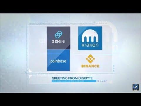 DigiByte – Binance – Coinbase – Gemini – Kraken