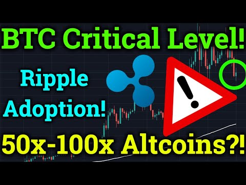 Bitcoin CRITICAL Level! Altcoins 50-100x Gains?! Ripple XRP News! (Cryptocurrency Trading Analysis)