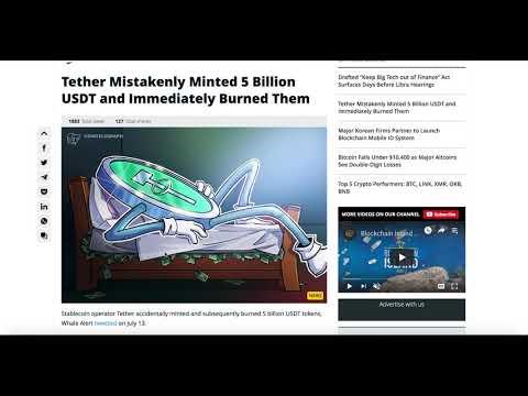 Tether Mistakenly Minited 5 Billion USDT | Earn EOS Stellar Lumen DAI in Coinbase