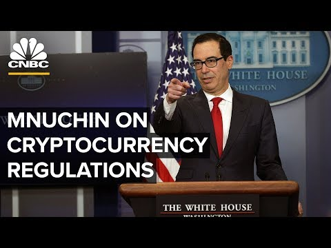 Steven Mnuchin holds press briefing on cryptocurrency regulations – 07/15/2019