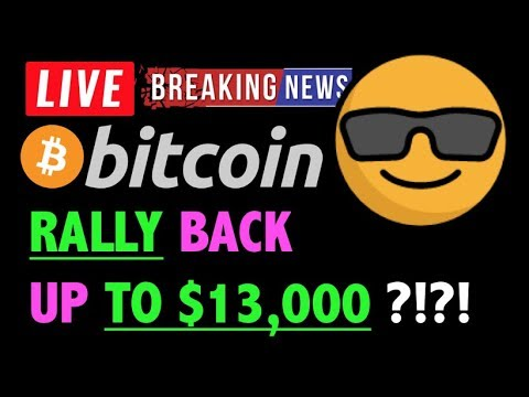 Bitcoin CAN IT RALLY BACK TO $13K?! 🛑- LIVE Crypto Trading Analysis & BTC Cryptocurrency Price News