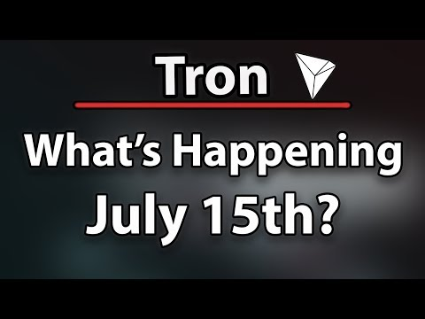 Tron TRX What's Happening July 15th? (Really Important!) & Tether Printed $5 Billion On Accident!
