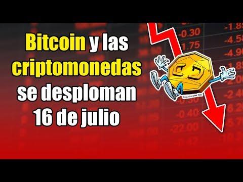 Bitcoin y las Criptomonedas SE DESPLOMAN, ethereum va utilizar bitcoin cash?, noticias 16 de julio