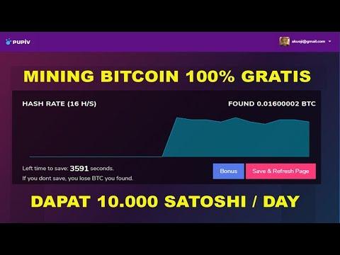 100% GRATIS! CLOUD MINING BITCOIN 2019 – DAPAT 10.000 SATOSHI TIAP HARI