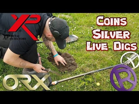 OMG! Silver Coin On A Live Dig!! XP ORX. Metal Detecting UK.