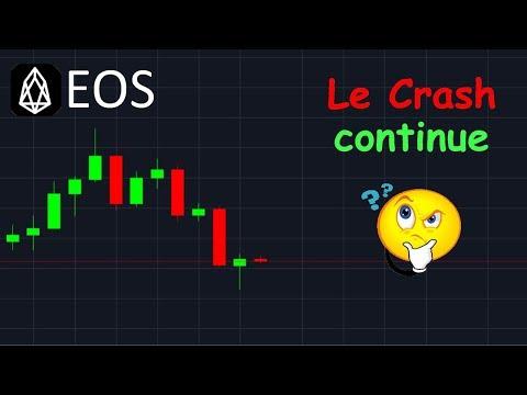 EOS LE CRASH CONTINUE !? analyse technique crypto monnaie bitcoin