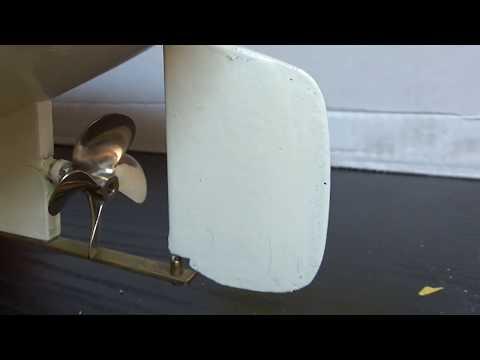 Une hélice Protean Design pour Antje -Bateau vapeur vive / Live steamboat RC