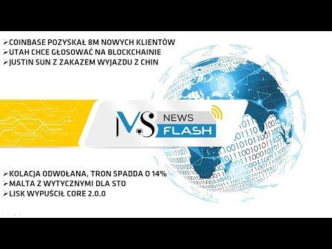 NewsFlash – Lisk Core 2.0.0, Malta i STO, Justin Sun z zakazem wyjazdu z Chin