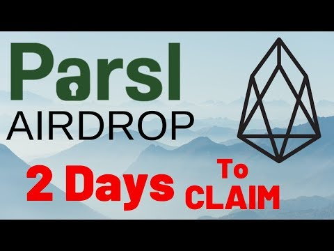 Parsl SEED (Up 1000+%) EOS Airdrop: 2 Days Left to Claim