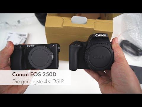Canon EOS 250D | Die kleinste 4K-DSLR im Unboxing [Deutsch]