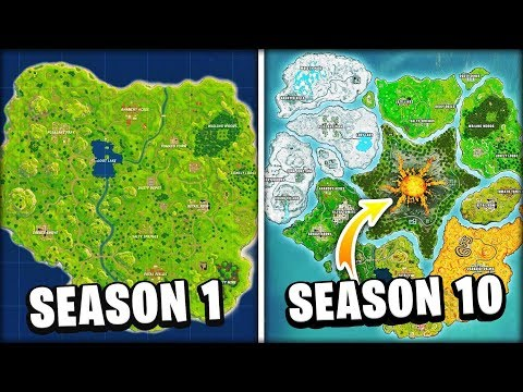 Evolution Of The Entire Fortnite Island! (Season 1-10)