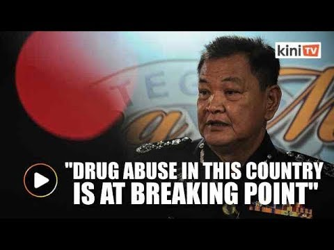 Drug abuse in M'sia at a breaking point, we could reach the level in Colombia, says IGP
