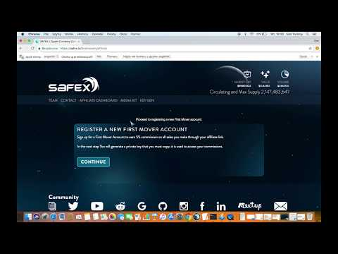 How to setup and use the Safex First Mover Program