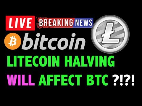 Bitcoin WILL LITECOIN HALVING AFFECT BTC?!❗️LIVE Crypto Trading Analysis & Cryptocurrency Price News
