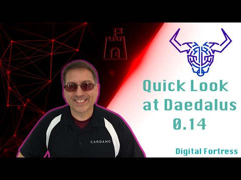 Quick Preview of Daedalus 0.14 on Cardano 1.6 – July 31, 2019