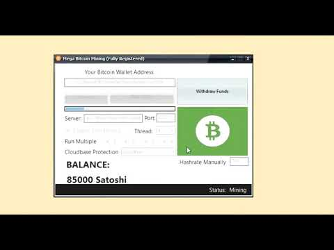 FREE!! Mega Bitcoin Mining  Software 2019 Fully Registered