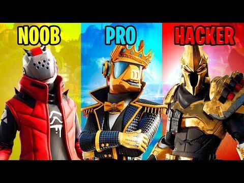 NOOB vs PRO vs HACKER – Fortnite Battle Royale