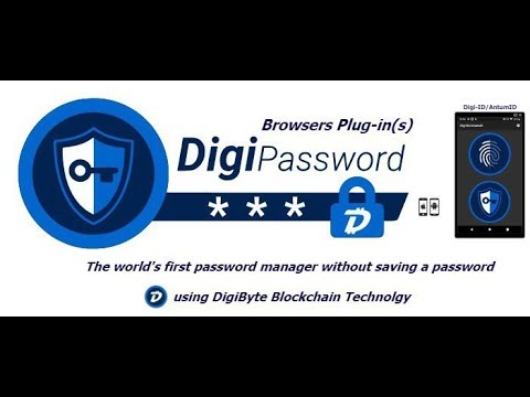 DigiByte (DGB) Releases First Blockchain-Based Password Manager!!!