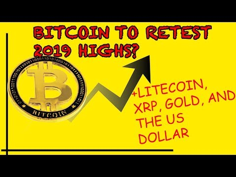 BITCOIN back up, Litecoin halving over, stocks/USD crash, gold up