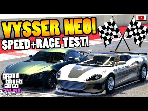 😁🏁Nicht Schön Aber SCHNELL! VYSSER NEO Speed + Race Test!😁🏁 [GTA 5 Online Casino Update DLC]
