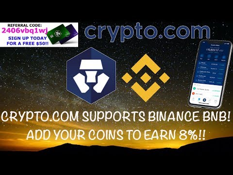 🔴 CRYPTO.COM SUPPORTS BINANCE BNB COIN! ADD YOUR COINS TO EARN 8%!! 💳