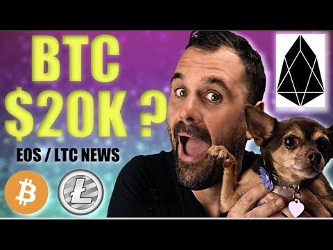 BTC to $20K? – EOS Updates – LTC Post Halving & More!
