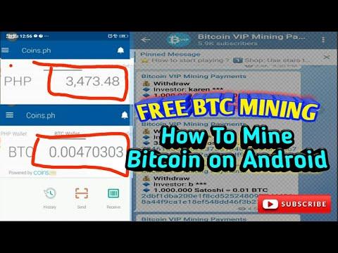 FREE EARN BITCOIN MINING, sa bagong link.  How To Mine Bitcoin on Android