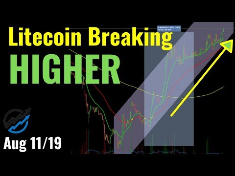 Litecoin BREAKING HIGHER TODAY! Technical Analysis ADA, EOS, ETH, LTC, TRX, XRP | Aug 11/19