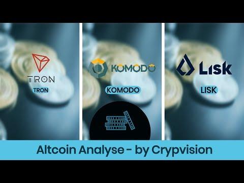 Mögliche Preisentwicklung für Tron, Lisk und Komodo!