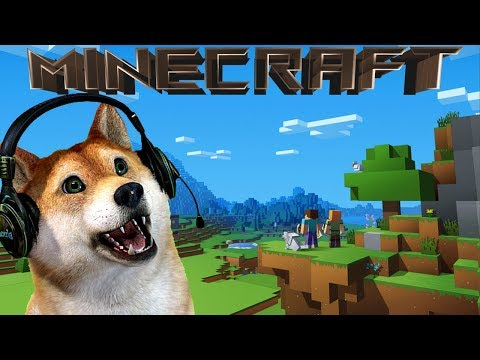 Doge playing Minecraft!🔥learning how to play Minecraft!🔥