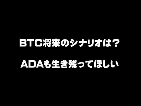 BTC将来のシナリオは?  ADAも生き残ってほしい 仮想通貨(ADA)で億り人を目指す!近未来戦士ヒロミの暗号通貨ライフ