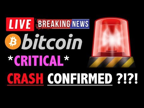 Bitcoin *CRITICAL* CRASH CONFIRMED?!❗️LIVE Crypto Trading Analysis & BTC Cryptocurrency Price News