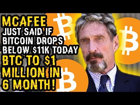 MCAFEE JUST SAID IF BITCOIN Drops Below $11K Today, BTC To $1 MILLION In 6 MONTHS For 1 Weird REASON