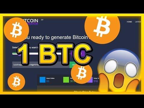 Free Bitcoin Mining, Generate 1 BTC – Bitcoin Generator 2019