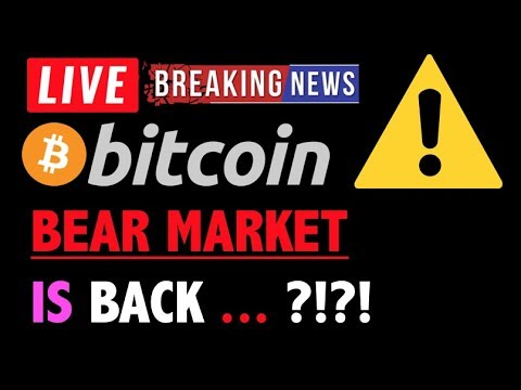 Bitcoin *ALERT* BEAR MARKET IS BACK?!❗️LIVE Crypto Trading Analysis & BTC Cryptocurrency Price News