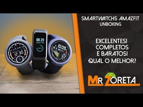 AMAZFIT VERGE x VERGE LITE x COR 2 – Os melhores smartwatchs da Xiaomi! Qual comprar? Unboxing
