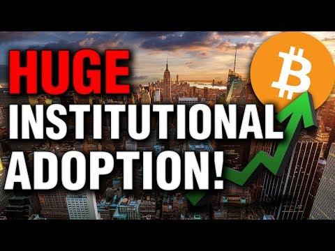 HUGE Institutional Bitcoin Adoption!