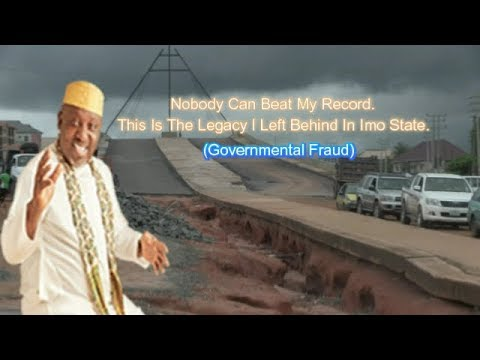 Death Trap: Rochas Okorocha Flyover At The Verge Of Colapse.