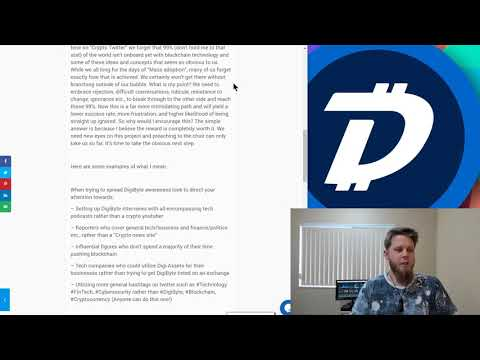 DigiByte Update – #51 – DigiShield, History with DOGE, and sharing DigiByte