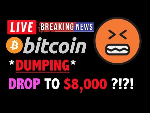 Bitcoin *DUMPING* DROP TO $8,000?!❗️LIVE Crypto Trading Analysis TA & BTC Cryptocurrency Price News