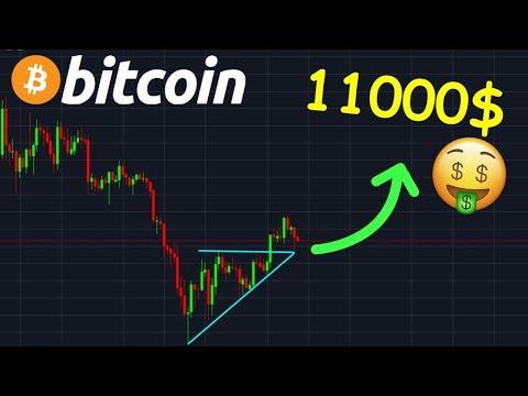 BITCOIN 11.000$ L'OBJECTIF DU TRIANGLE CASSÉ  !? btc analyse technique crypto monnaie