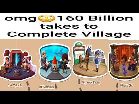 Omg 160 Billion Coins is Spend to Build village 159,160,161,162 of Coin Master Game