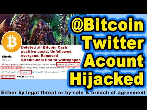 Twitter @Bitcoin Account Hijacked (by legal threat or sale & breach of agreement)-Roger Ver explains