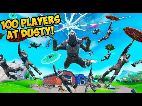 100 ENFORCERS LAND IN DUSTY DEPOT!! – Fortnite Funny Fails and WTF Moments! #661